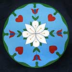 Earth Star Flower Pennsylvania Dutch hex sign