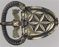 400 C.E. belt buckle with hex type design
