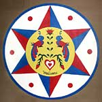 welcome and protection pennsylvania dutch hex sign