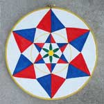 Double Creator's Star Pennsylvania Dutch Hex sign
